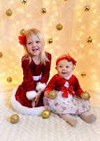 Allie and Ayla Christmas session
